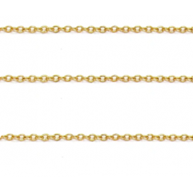 Schakelketting 3x2mm gold plated, per meter
